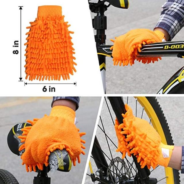 6 pièces/ensemble kits doutils de nettoyage de vélo vélo nettoyeur de chaîne vélo pneu brosse frein disque nettoyant outils