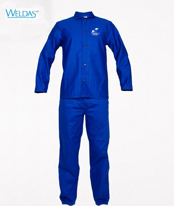 welding clothes flame retardant clothing wear-resistant 100% cotton set work wear