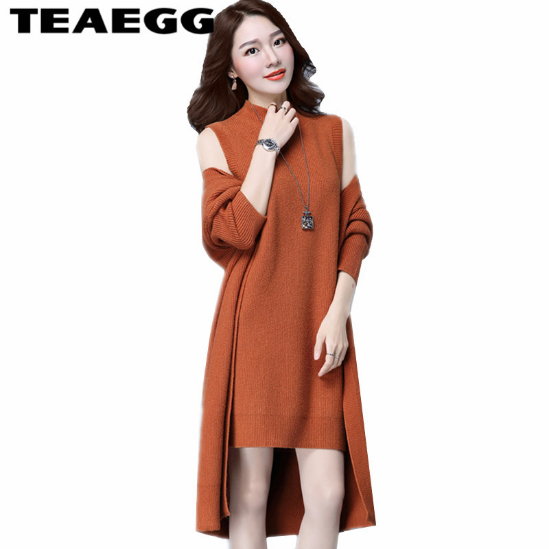 TEAEGG Robe Femme Slim Woman Dress 2017 Spring Autumn Elasticity Knitted Dress Women Clothing Vestidos Mujer Plus Size 5XL AL36 2016 women s clothing fashion in europe and the atmosphere bohemia elasticity knitted cultivate one s morality dress