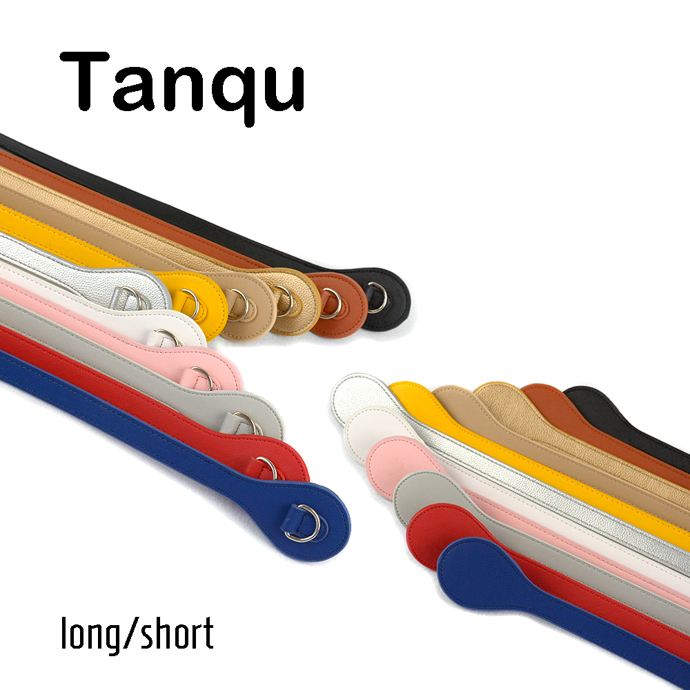 Tanqu Short Long Handle For O Bag With D Buckle Teardrop End Faux Leather Price Handles For OBag Belt Handbag Part