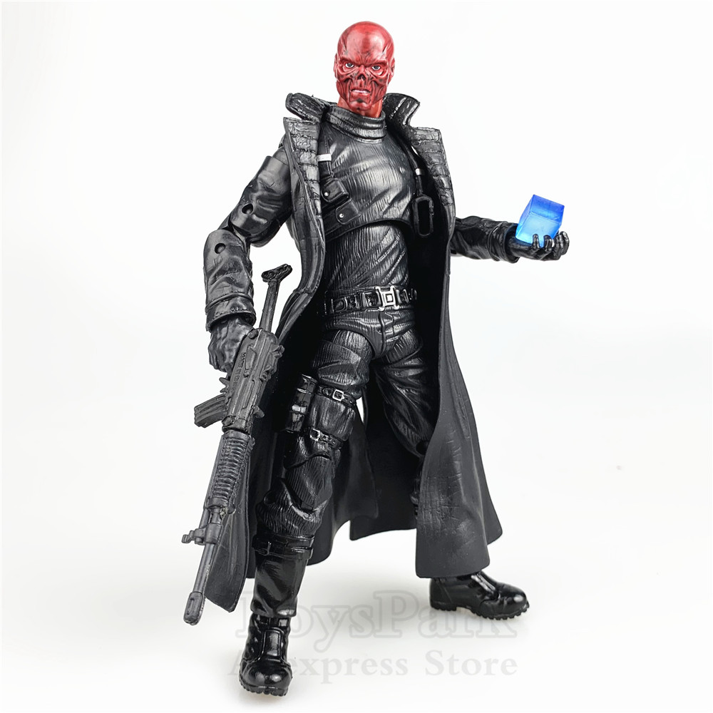 Marvel Legends 6 Red Skull Action Figure With Custom Cosmic Cube & Weapon & 10th Anniversary Head + TRU SHIELD Nick Fury BODYMarvel Legends 6 Red Skull Action Figure With Custom Cosmic Cube & Weapon & 10th Anniversary Head + TRU SHIELD Nick Fury BODY