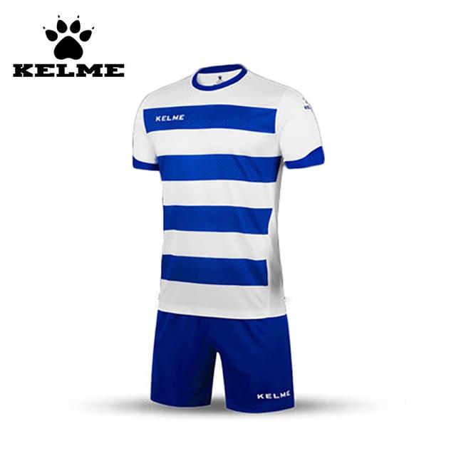 Kelme gestreiften fußball trikots männer maillot de foot 2016 2017 hochschulfußballjerseys 2016 trainingsfußball maillot benutzerdefinierte anzug
