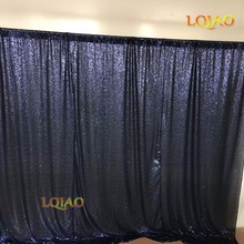 Big Size 20FTx10FT Luxury Wedding Backdrop Navy Blue Sequin Drapes Shimmer Sequin font b Curtains b