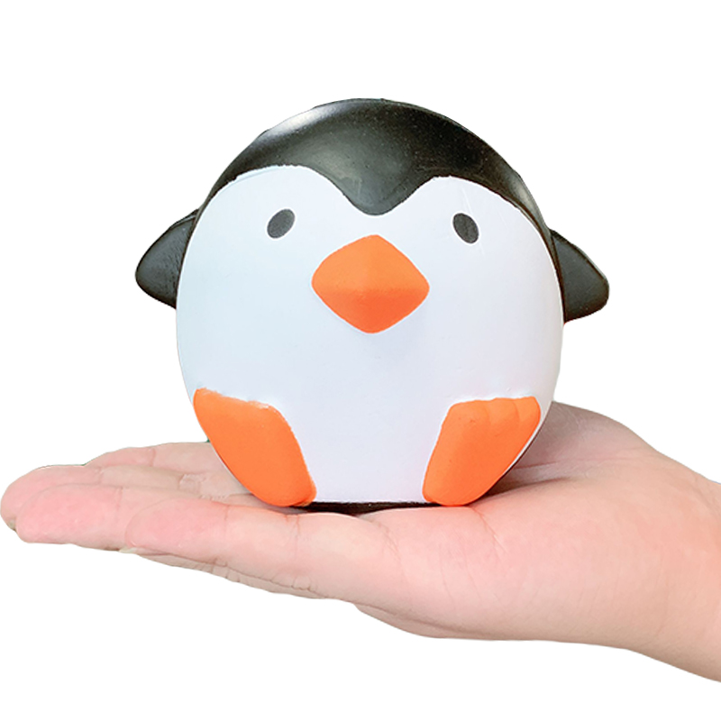 New Kawaii Jumbo Penguin Squishy Cartoon Doll Slow Rising Smooth Squeeze Toy Bread Cake Scented Stress Relief For Kid Xmas Gift