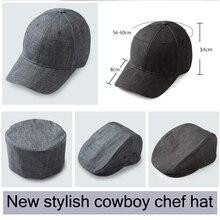 2018new cappello da cuoco Senior Hotel Ristorante bianco nero cuoco di alta  cappello di panno di 383cfdef653b