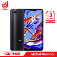 Global Version Xiaomi Mi 8 Mi8 Lite 4GB Ram 64GB Rom Snapdragon 660 AIE 6.26 Full Screen 24MP Front Camera Cellphone