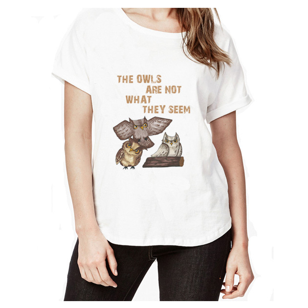 twin peaks Large Size Women T-Shirt Tops Autumn Spring Vintage Pullovers Sleeve Tshirt Tees Plus Size WT2852