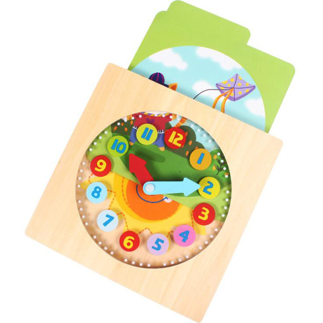 Digital Wooden Clock Early Childhood Education Cognitive Child Working Time Cognitive Intelligence Toy Children Gift