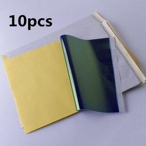 Image 1 - 10Pcs גיליונות קעקוע מכונת צילום העברת נייר רוח סטנסיל פחמן תרמית התחקות גוף אמנות מתאר ערכת A4 יופי אבזרים