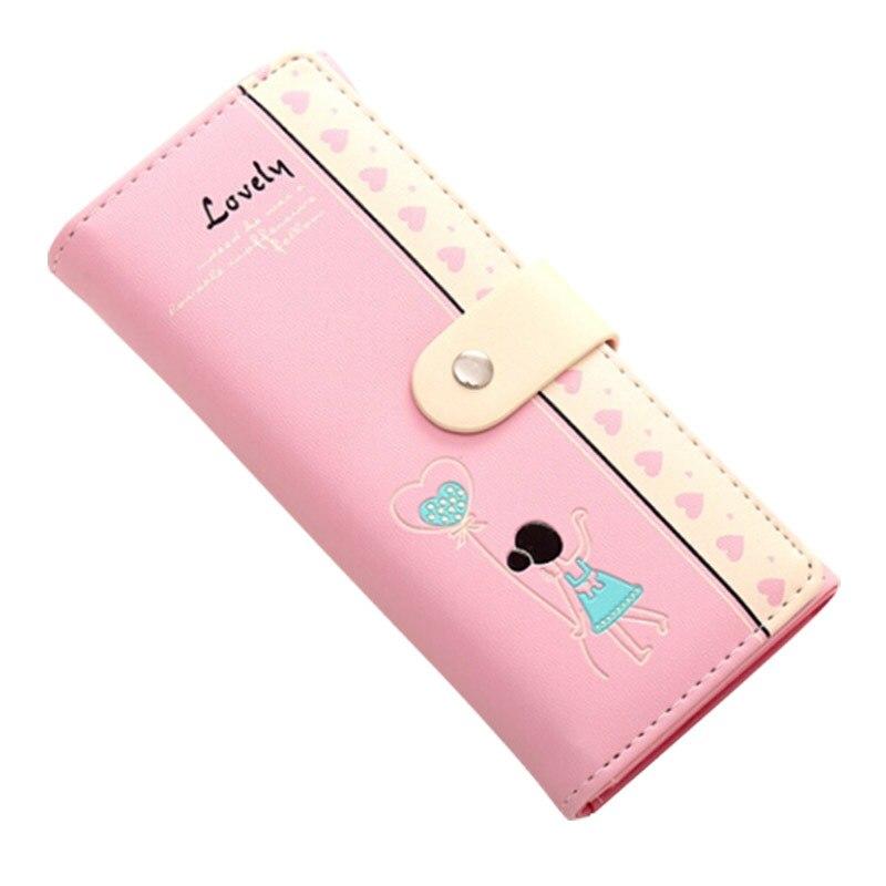 Korean Style Clutch  Women Wallet Girl Print Wallet Carteira Feminina  Hasp Zipper Cartoon  Phone Bag  Coin Purse