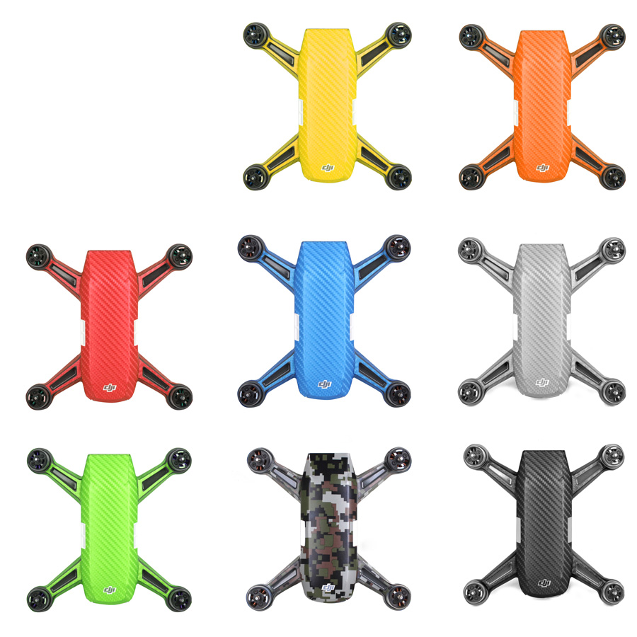 Drone Body Luxury Carbon Fiber Skin Wrap Waterproof Stickers Decal For DJI SPARK