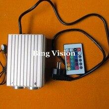 Волоконно-оптический световой двигатель 32 Вт RGB led волоконно-оптический осветитель, двойной порт и ИК Сенсорный пульт, для оптических волоконные лампы