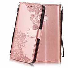 цена Embossed Wallet Case For Huawei P Smart Cases PU Leather Flip Phone Cover For Huawei Enjoy 7S Book Style Stand Back Cover On