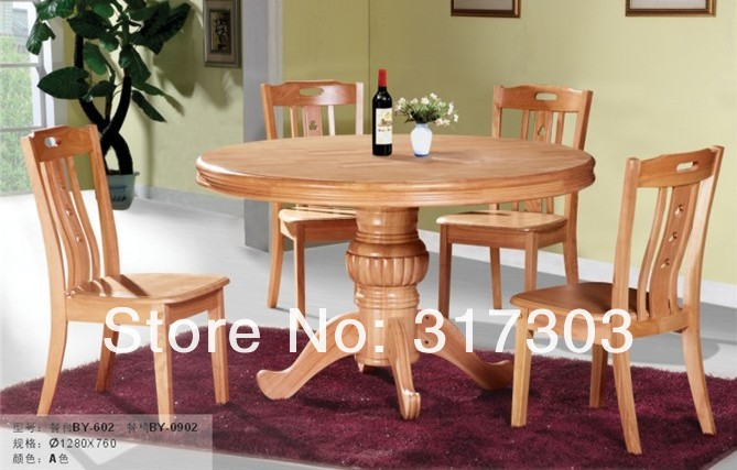 SOLID WOOD DINING ROOM FURNITURE, FACTORY WHOLESALE, OAK CHAIR AND DESK SET,ROUND DESKT-602