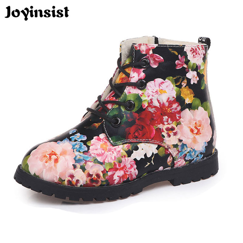 Girls Martin Boots The New 2019 Children Boots And Velvet Flower Boy Baby Shoes Girls Shoes Waterproof