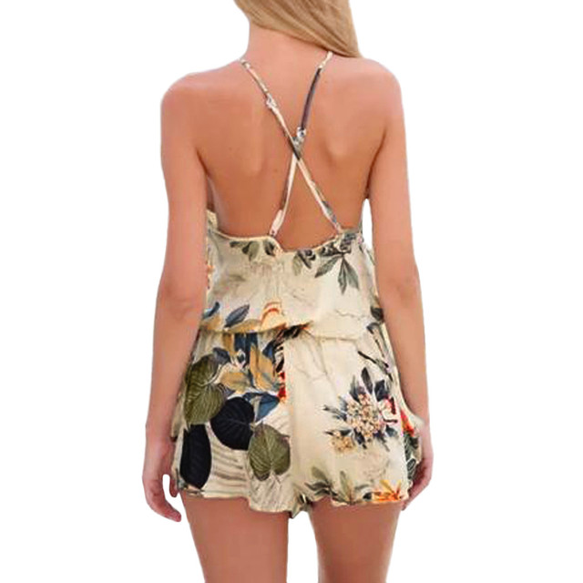 Short Sleeve Sweet Style Floral Lace Romper