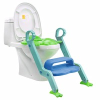 Hot Sale Safety Baby Step Ladder Potty Chair Kids Foldable Toilet Seat Trainer Infant Non Slip Safety Potty Seat