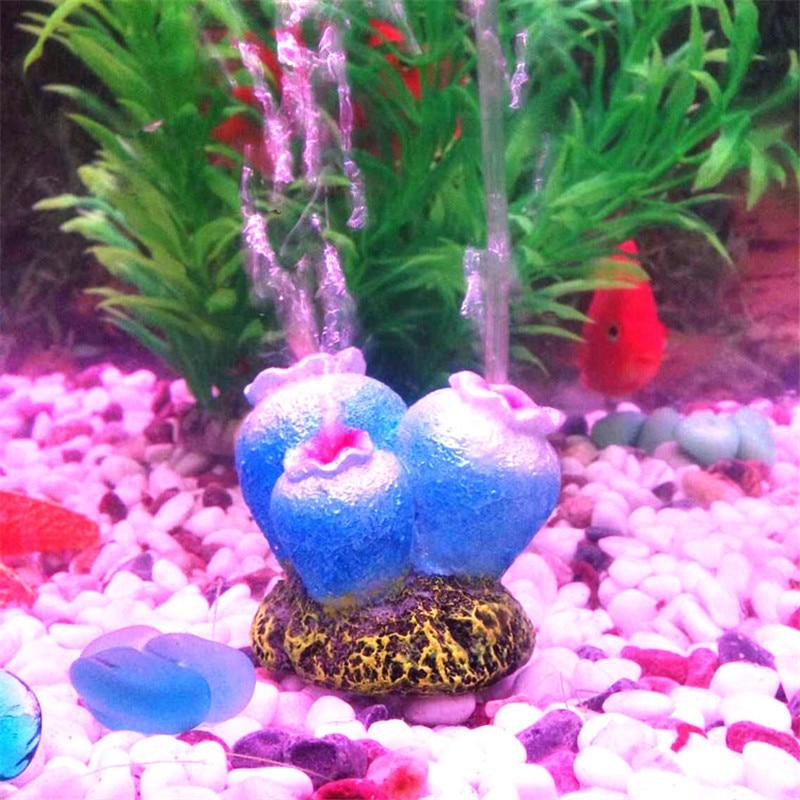 Квітка форму акваріумні риби бак декор орнамент кисень насос повітря міхур кам'яний повітряний насос привід іграшка Орнамент 1шт