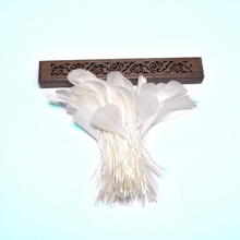 50pcs/lot white goose feathers for crafts 13-18cm DIY color jewelry making plumas materials Home party decorative