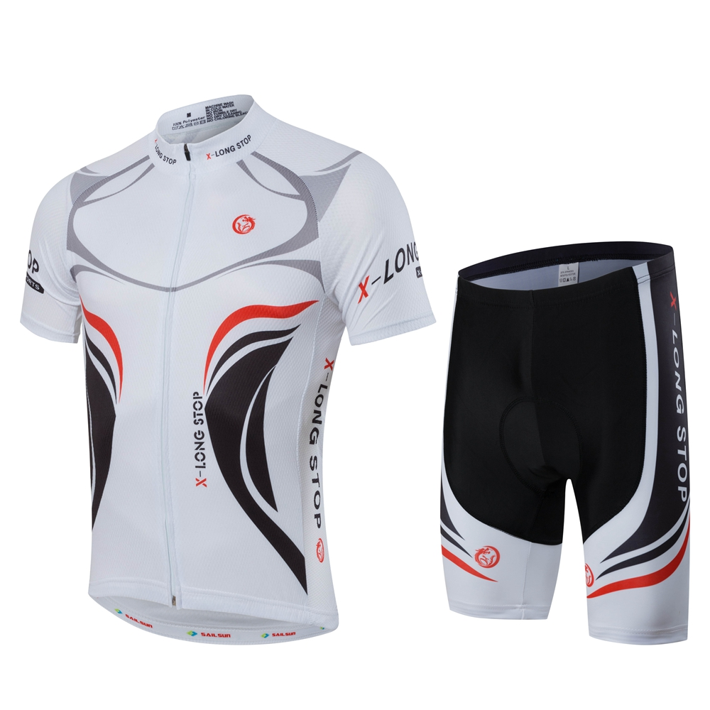 black trek cycling jersey and black bib shorts set ETBO 2017 red
