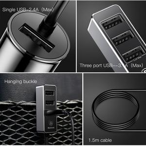 Image 5 - Baseus 4 USB מהיר מטען לרכב עבור iPhone iPad סמסונג Tablet נייד טלפון מטען 5V 5.5A רכב USB מטען מתאם לרכב מטען