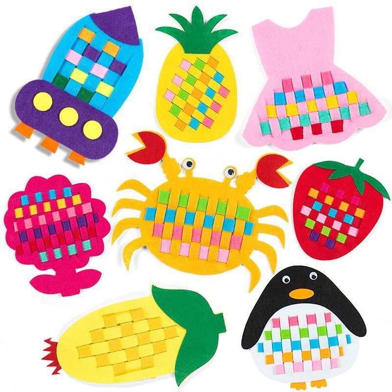 Children DIY Felt Cloth Crafts Kindergarten Non Woven Kids Study Toys By Hands Felt Fabric Early Teaching Toys