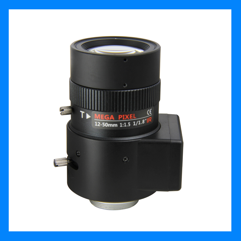 3 megapixel lens 12-50mm vari auto iris 1/1.8