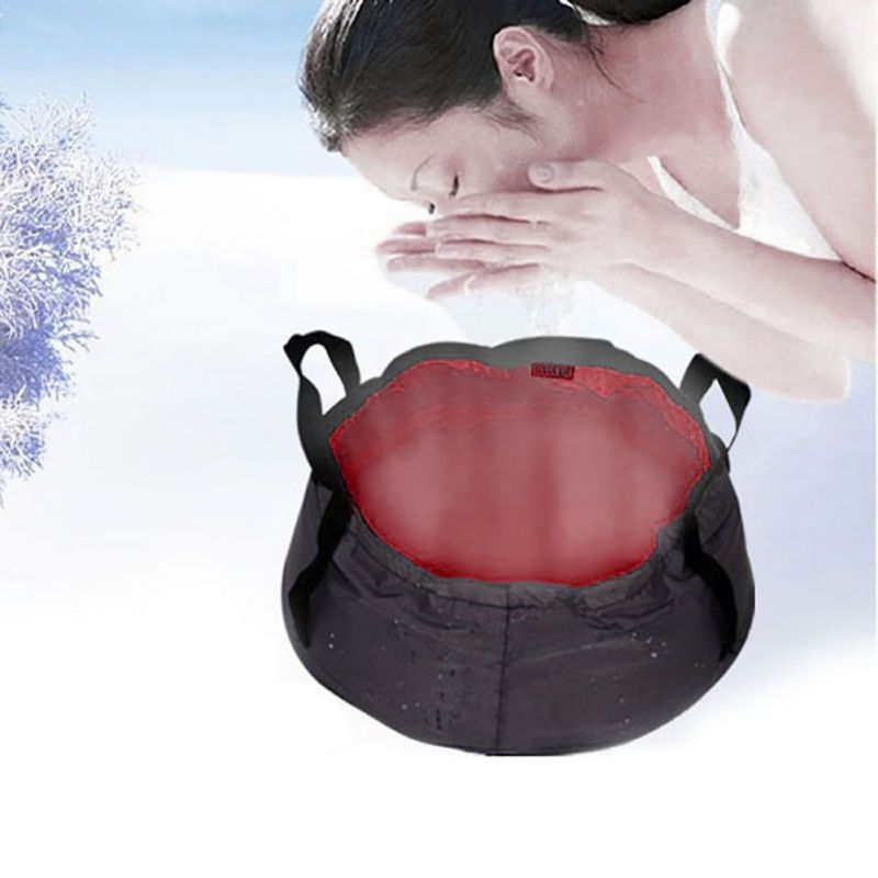 Ultra-light portable 7-8.5L Outdoor Survival folding camping basin survival camping equipment travel kit Drop Shipping