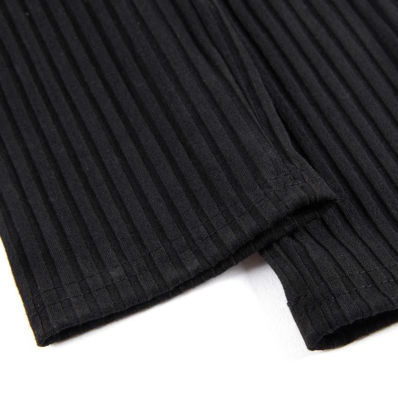 77b8cb57d07985 ... NewAsia Garden High Waist Winter Leggings Ribbed Stretchable Leggins  Mujer Knit Skinny Pants Women Trousers Black