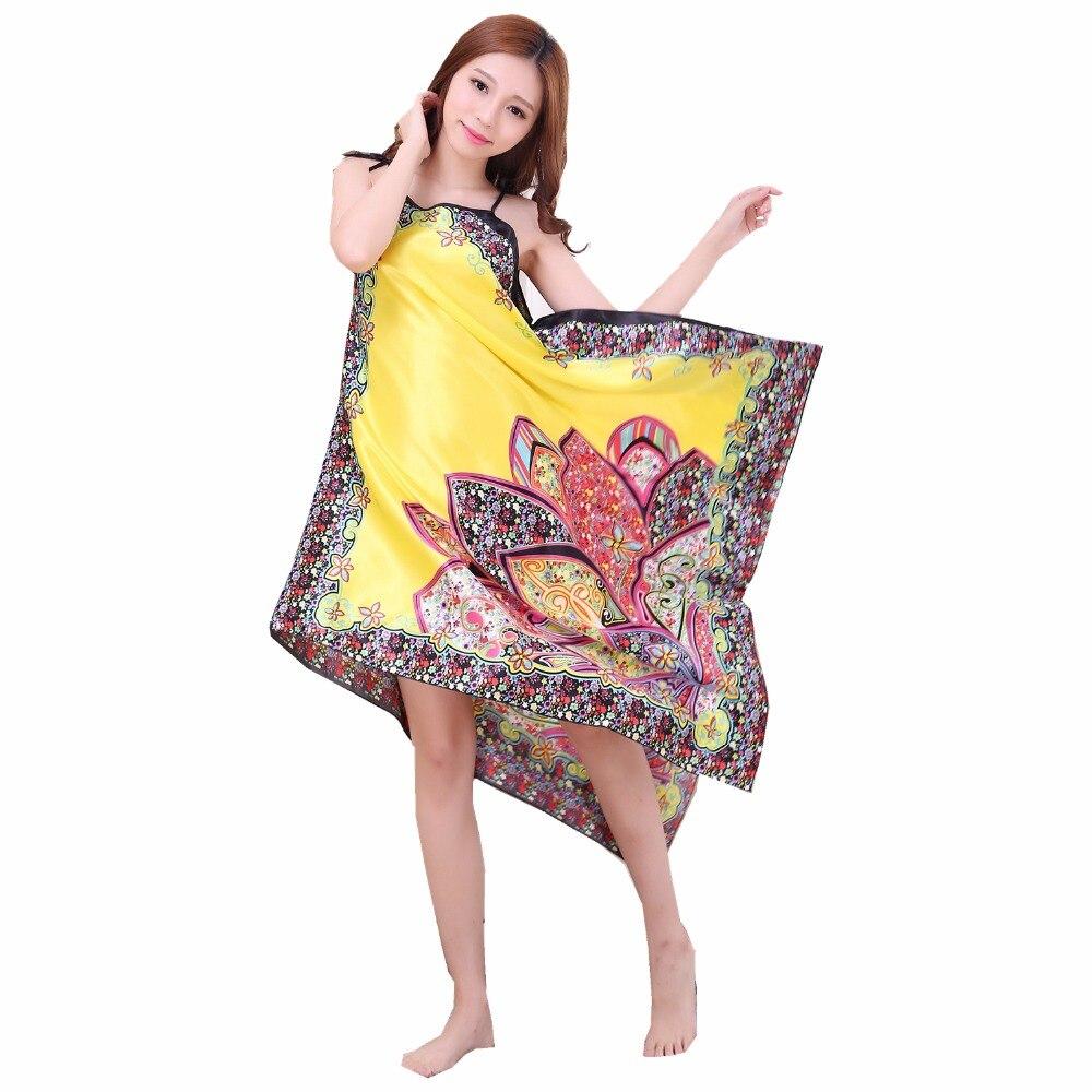 Brand Designer Floral Women Spaghetti Strap   Nightgowns   Summer Satin Underwear Sexy Intimate Lingerie   Sleepshirt   One Size D203-03