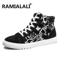 Ramialali Мужчины Скейтбординг обувь новый стиль мужской обуви модные мужские высокие фитнес сапоги Homme Training спортивная обувь кроссовки