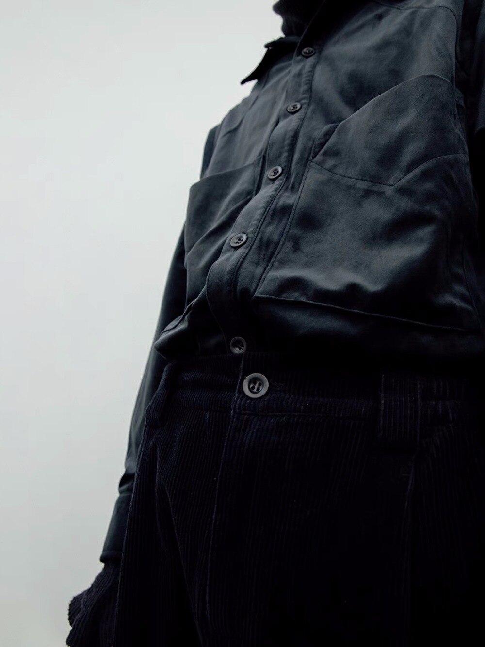 Mince La Longues Blanc Mâle À 6xl Plus Noir Scène S Chanteur Costumes Chemise Poche Pour Manches Taille Vêtements Hommes Mode De 2019 Nouvelle a8pq80g