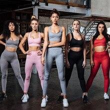 VVUES Yoga Leggings Bras Pants Women Padded Seamless Soft High Waist Elasticity Gym Sports Girls Jogging Bra 2019