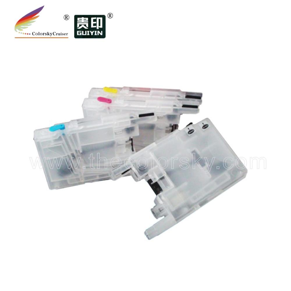(RCB-LC123) Заправляемый картридж с чернилами для Brother DCP J4410DW J4410 J4510DW J4510 J4610DW J4610 J4710DW J4710 J4110DW J4110D KCMY
