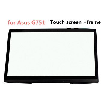 STARDE Replacement For Asus G751 17.3 Touch Screen Black Laptop Digitizer Panel With Frame Screen 1920*1080 Resolution