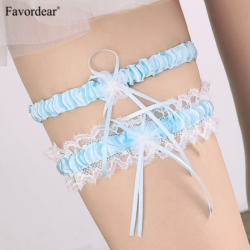 Bridal Gloves Fast Deliver Wedding Gloves 2018 Hot-selling Vintage Lace Bridal Leg Garter With Blue Rhinestones Ivory Appliques Wedding Accessories Fi034 Wedding Accessories