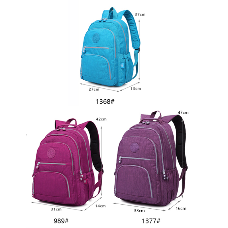 TEGAOTE fashion nylon women backpack multicolor casual school bag for teenager girls female laptop travel backpack in Backpacks from Luggage Bags