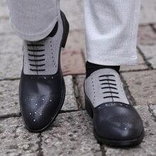 COSIDRAM/Мужские модельные туфли с острым носком; модельные Кожаные Туфли-оксфорды ручной работы; официальная обувь для мужчин; коллекция года; сезон весна; размеры 47, 48, BRM-080