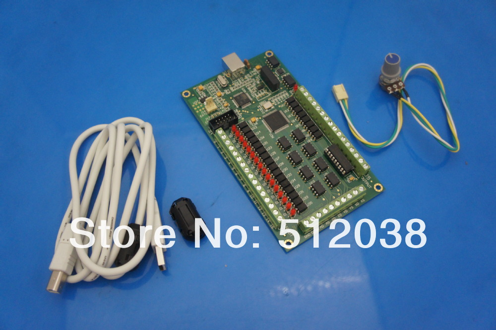 4 axis CNC Motion Controller USB Card Mach3 200KHz Breakout Board Interface, Stepper/Servo, windows 2000/xp/vista/7 4 axis usb mach3 motion control card cnc controller card four axis breakout interface board for cnc router