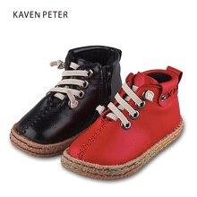 Ankle kids snow felt boots for girls boys baby bota infantil PU leather non-slip comfortable children's shoes botas de neve