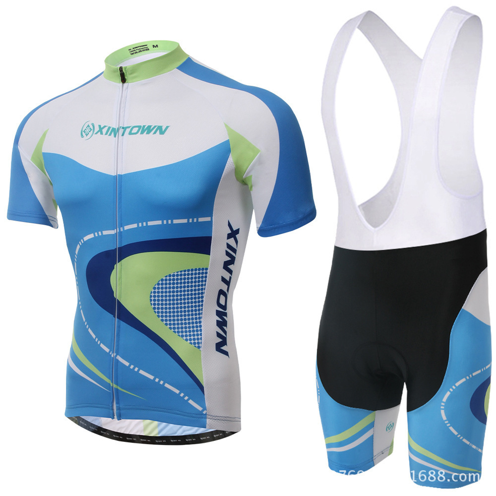 XINTOWN New Short Sleeves Pro Team Cycling Jerseys Set with Bib Pants Quick Dry Breathable Ropa Maillot Ciclismo 3D Gel Pad polyester summer breathable cycling jerseys pro team italia short sleeve bike clothing mtb ropa ciclismo bicycle maillot gel pad