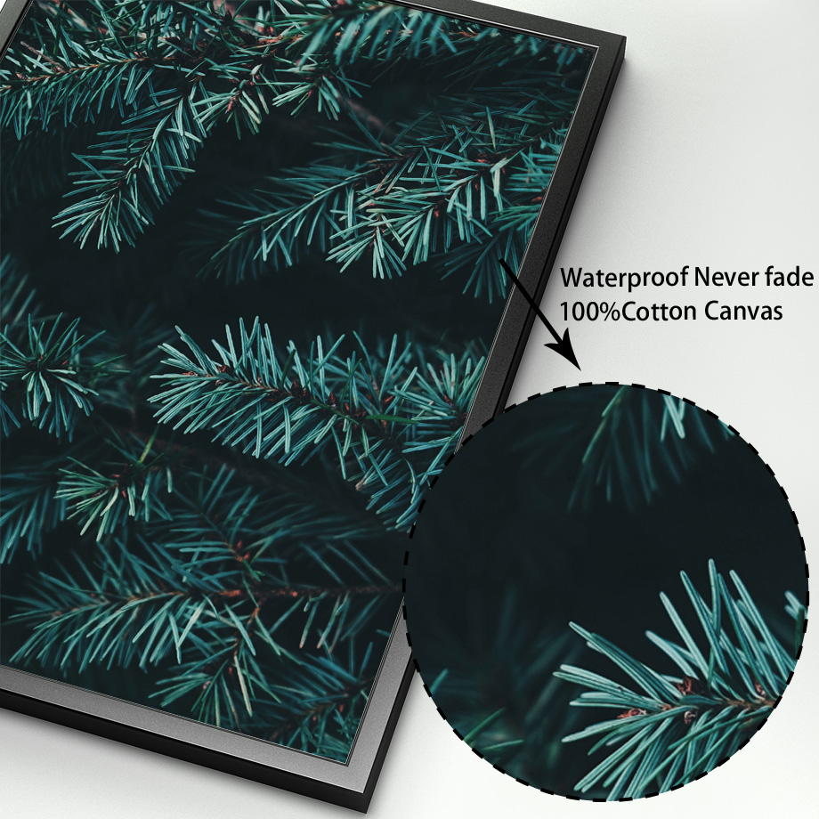 Image 4 - Pine Leaves Cactus Dandelion Botanical Prints Wall Art Canvas Painting Nordic Posters And Prints Wall Pictures For Living Room-in Painting & Calligraphy from Home & Garden