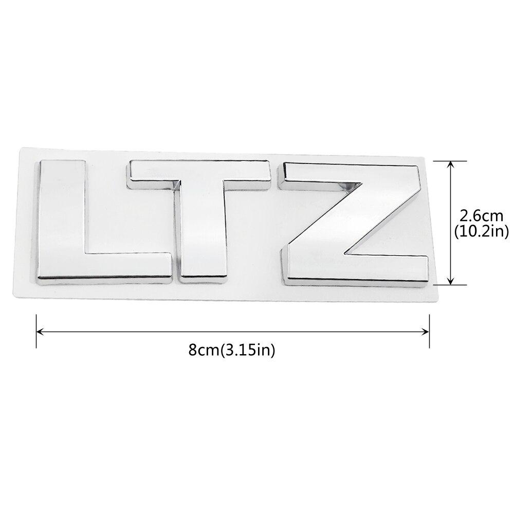 1x LT Nameplate Metal Emblem for Chevrolet Cruze Silverado Yukon Sierra Chrome