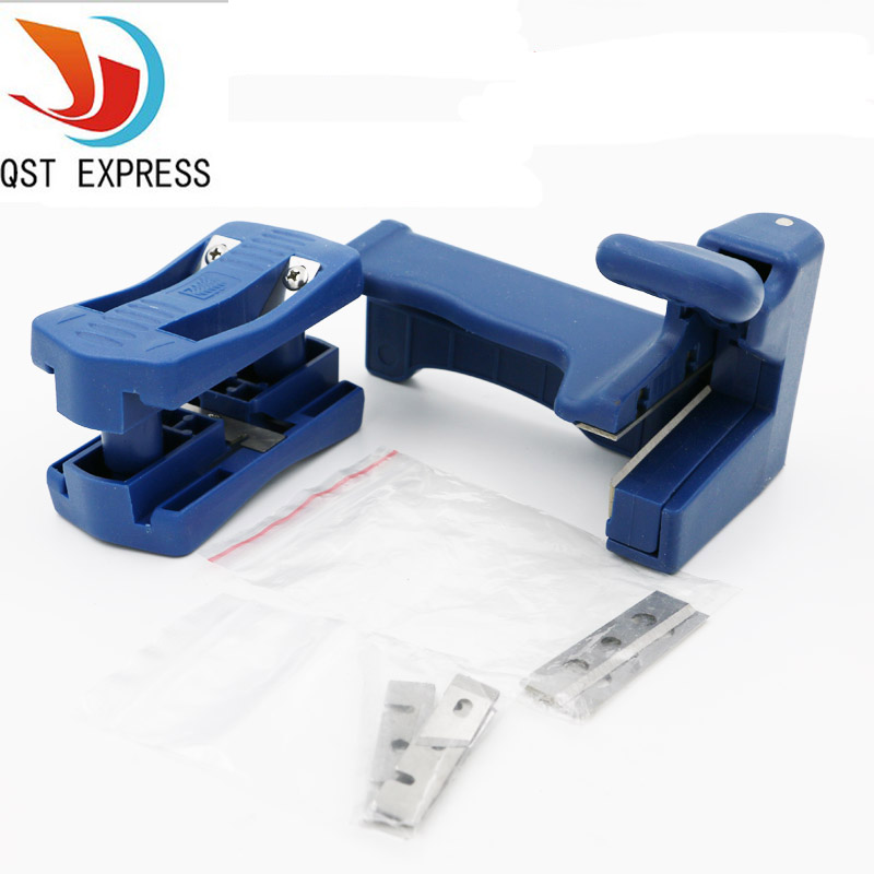 QST EXPRESS Double Edge Trimmer Banding Machine Set Wood Head and Tail Trimming Carpenter Hardware japan alloy steel trimming knife woodworking tool pvc trimming knife specialty edge banding trimmer