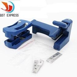 Qst express dupla borda aparador de fita máquina conjunto madeira cabeça e cauda aparar carpenter ferragem