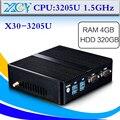 Mini pc 3205U, DDR3 4G RAM, 320G HDD, Computador Desktop, Caixa Da Liga de Alumínio, com WI-FI, HDMI + VGA, LAN, 2 * COM, Tablet pc