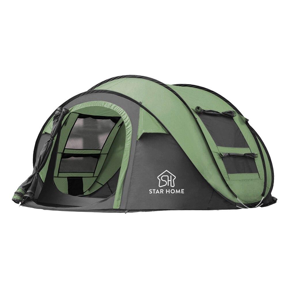 Étanche Ombre Plage Extérieure tente de camping En Plein Air 3-4 Personnes Automatique Tente