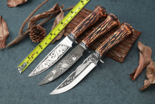 3 Options!!!Fixed knife Straight hunting knife 57HRC 5cR15MOV blade EDC tools camping free shipping VG10