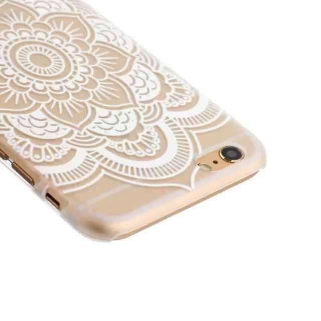 Mandala Paisley Bloem Indiase Patroon Zachte Tpu Telefoon Case Transparante Siliconen Beschermhoes Voor Iphone X 8 6 6 s 5 7 Plus