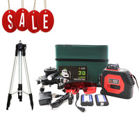 Professional 12 Line 3D laser level 360 Vertical And Horizontal Laser Level Self leveling Cross Line 3D Laser Level with outdoor
